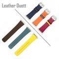 4smarts Leather Duett Armband für Apple Watch Series 4 (40mm) & 3/2/1 (38mm) gelb/rot