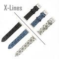 4smarts X-Lines Armband für Apple Watch Series 4 (44mm) & Series 3/2/1 (42mm) silber