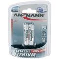 Ansmann Extreme Lithium Batterie Micro AAA (2 Stück)