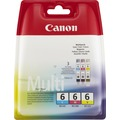 Image of 3X Canon 4706 A 022, 4706A022, 4706A022AB/BCI-6 Original Tinte Cyan, Magenta, Gelb