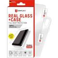 Displex Displex, Real Glass 0,33mm + Hülle, Apple iPhone 11 / XR, Displayschutzglasfolie