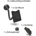 Eixo Fahrzeughalter (Car Mount) mit Saugnapf und Schraubknopf für Eixo Ledertaschen