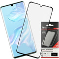 Fontastic Prime Curved Full Cover Schutzglas Schwarz Case Friendly, komp. mit Huawei P30 Pro