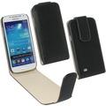 PU Tasche Flip Noma schwarz für Samsung Galaxy S4 Mini fuer Samsung Galaxy S4 mini (i9195)