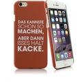 The Word - PC Case Kacke für iPhone 6 6S braun fuer Apple iPhone 6 iPhone 6s