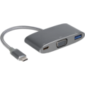 Innergie MagiCable - USB-C zu VGA Multiport Adapter - grau