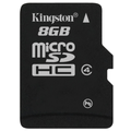 Kingston Micro-SD Card 8GB SDHC Class 4 ohne Adapter