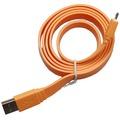 Konkis Flat Lade- und Datenkabel (Micro-USB) für Smartphone/Tablet, orange