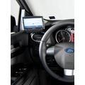 Kuda Navigationskonsole für Navi Ford Focus ab 11/04 u. 04/07 bis 02 Echtleder schwarz Montage A-S