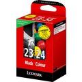 Image of 2x Lexmark 0018C1419E , 018C1419E , 18C1419E / 23+24 , No 23 & No 24 , NO 23+24 Original Tinte Schwarz, Cyan, Magenta, Gelb