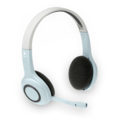 Logitech Wireless Stereo Headset, hellblau-silber
