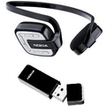 Nokia Bluetooth Stereo Headset BH-601 inkl. PC-Audio-Adapter AD-47W