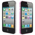 Ozaki iCoat BlingBling Sticker f�r iPhone 4S, pink&silver