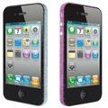 Ozaki iCoat BlingBling Sticker f�r iPhone 4S, purple&blue