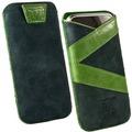 Fontastic OZBO Ledertasche Valera M - grün - 118x60x11mm