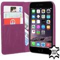 Echtledertasche (Bookstyle) für iPhone 5/5S/SE, lila fuer Apple iPhone 5, iPhone 5S, iPhone SE
