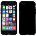 Pedea Soft TPU Case für Apple iPhone 5/5S/SE, glatt, schwarz