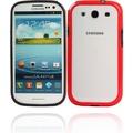 Twins Color Bumper für Samsung i9300 Galaxy S3, schwarz-rot
