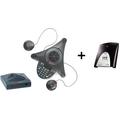 Polycom SoundStation 2W EX mit 2 Zusatzmikrofonen und ISDN-Adapter