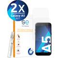 smart engineered [2x] 3D Schutzfolie Samsung Galaxy A5 (2017) Transparent (Klar) Front (Display) im SET inkl. Nano-Versiegelung