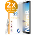 smart engineered [2x] 3D Schutzfolie Samsung Galaxy Note 8 Matt (entspiegelt) Front (Display) im SET inkl. Nano-Versiegelung