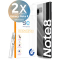 smart engineered [2x] 3D Schutzfolie Samsung Galaxy Note 8 Transparent (Klar) Back (Rückseite) im SET inkl. Nano-Versiegelung