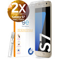 smart engineered [2x] 3D Schutzfolie Samsung Galaxy S7 Matt (entspiegelt) Front (Display) im SET inkl. Nano-Versiegelung
