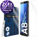 smart engineered 3D Schutzfolien für Samsung Galaxy A8, 2x Premium HD Displayschutzfolien, 1x Folie Rückseite