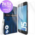 smart engineered 3D Schutzfolien für Samsung Galaxy J5, 2x Premium HD Displayschutzfolien, 1x Folie Rückseite [FULLBODY SET]