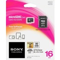 Sony microSDHC Card 16GB, Class 4 inkl. SD-Card Adapter, Retail-Blister