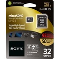 Sony microSDHC Card 32GB, Expert, Class 10, UHS-I 95MB/s, 633x, inkl. SD-Card Adapter, Retail-Blister