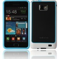 Twins 2Color Bumper für Samsung i9100 Galaxy S2, blau-weiß