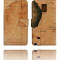 Kunstleder Flip Case für Galaxy Note 4 ,Atlas,b...