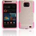 Twins Perforated Guard f�r Samsung i9100 Galaxy S2, wei�-pink
