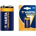 VARTA Longlife Extra 9V E-Block Batterie (1 Stück)