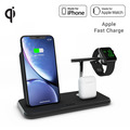 ZENS Aluminium Stand + Apple Watch + Dock, Qi, schwarz, ZEDC07B/00
