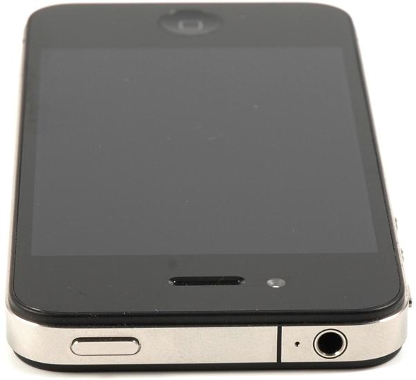 Apple iPhone 4, 8GB, schwarz - Oberseite 3,5 mm Klinkenanschluss