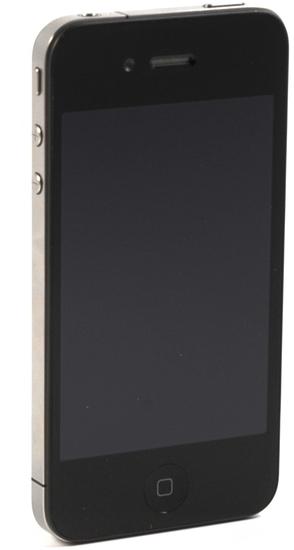 Apple iPhone 4, 8GB, schwarz - Perspektivische Ansicht Retina Display