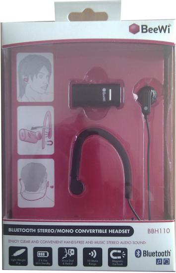 Beewi Bluetooth Mono-Stereo Headset BBH110, schwarz -