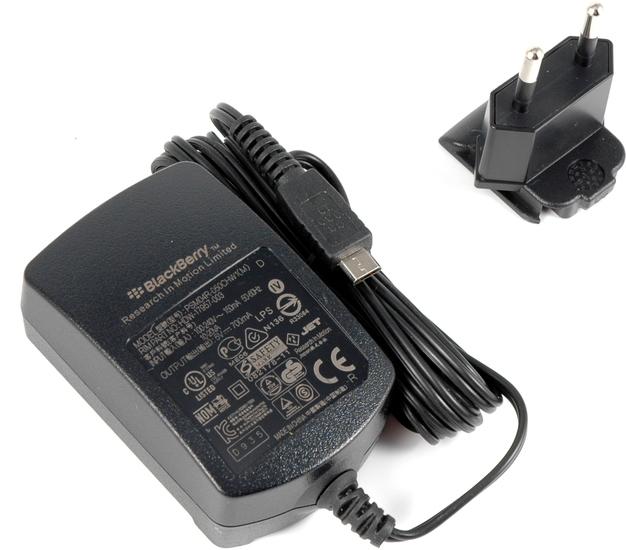 Blackberry Micro-USB Reiseladegerät - Beispiel mit EU-Stecker
