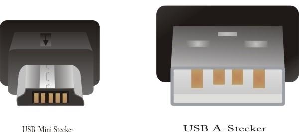 DeLock Mini-USB Lade- und Datenkabel 1,5 m, schwarz -