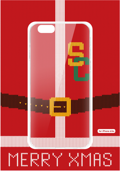Flavr Cardcase Ugly Xmas Sweater College Santa for iPhone 6/6s colourful -