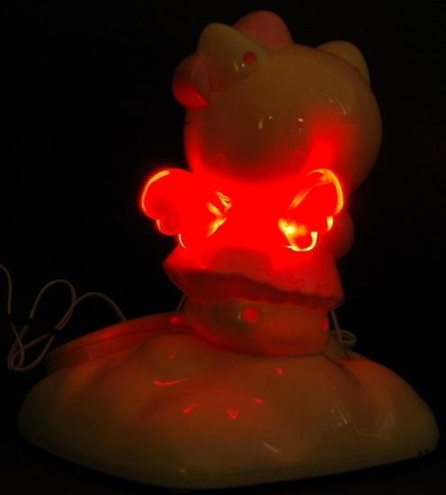 Hello Kitty Telefon - Rückseite blinkend