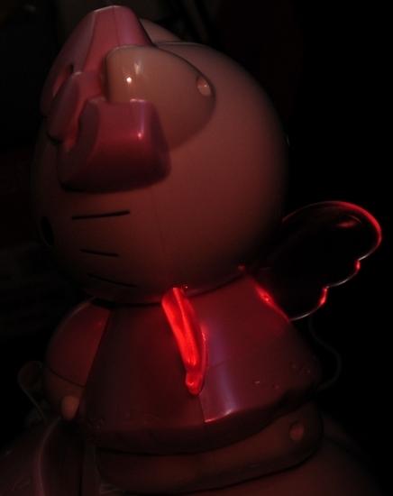 Hello Kitty Telefon - Seitenansicht blinkend