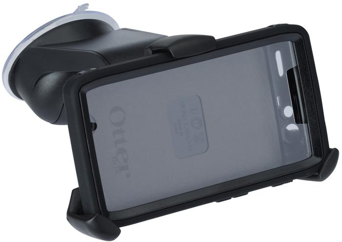 HR Auto-Comfort iGRIP Universalhalter Smart GripR x-tra Kit - Beispiel mit Otterbox für RAZR