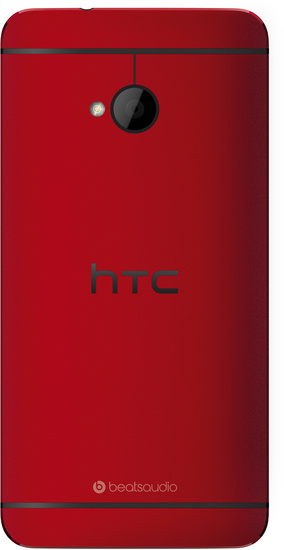 HTC One (M7), glamour red -