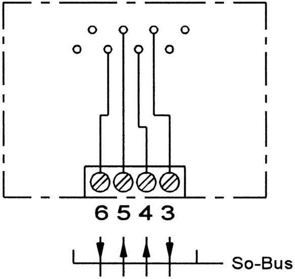 ZE Kom ISDN-Anschlussdose (einfach), Aufputz - Schaltplan