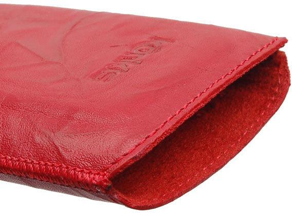 Konkis Echtleder-Etui für Samsung Galaxy S3, washed rot -
