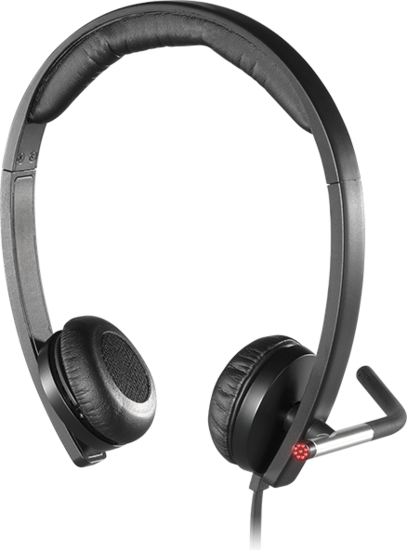 Logitech® Headset H650e - USB - Mono Schwarz - Business -