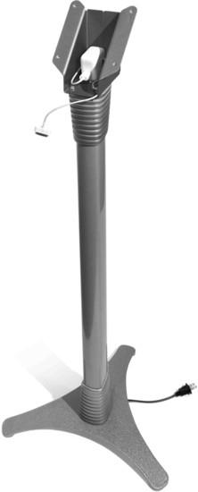 Maclocks Höhenverstellbarer Standfuß mit Sicherung für iPad 2/3/4, silber -